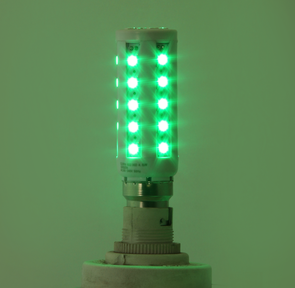Light LED E27 Green 90 - 240V